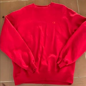 Champion Crewneck Sweatshirt Red Size M